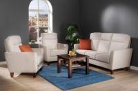 VERDI 3-istuttava sohva ja 2 lepotuolia kangas Goes/Leaf