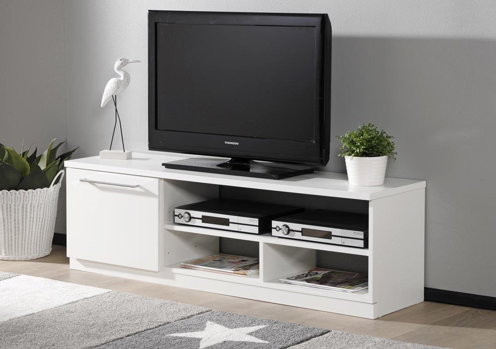 MONACO tv-taso 135cm ovi+avo (valkoinen) - TV-tasot ja mediatasot   Sotka