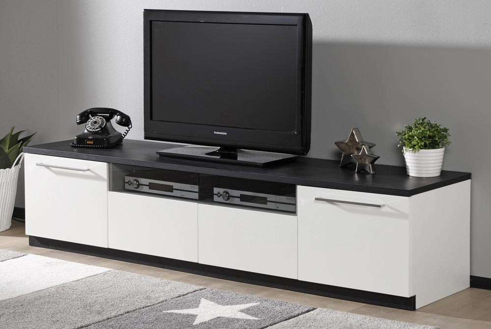 MONACO tv taso (valkoinen tammi)  TV tasot ja mediatasot  Sotka