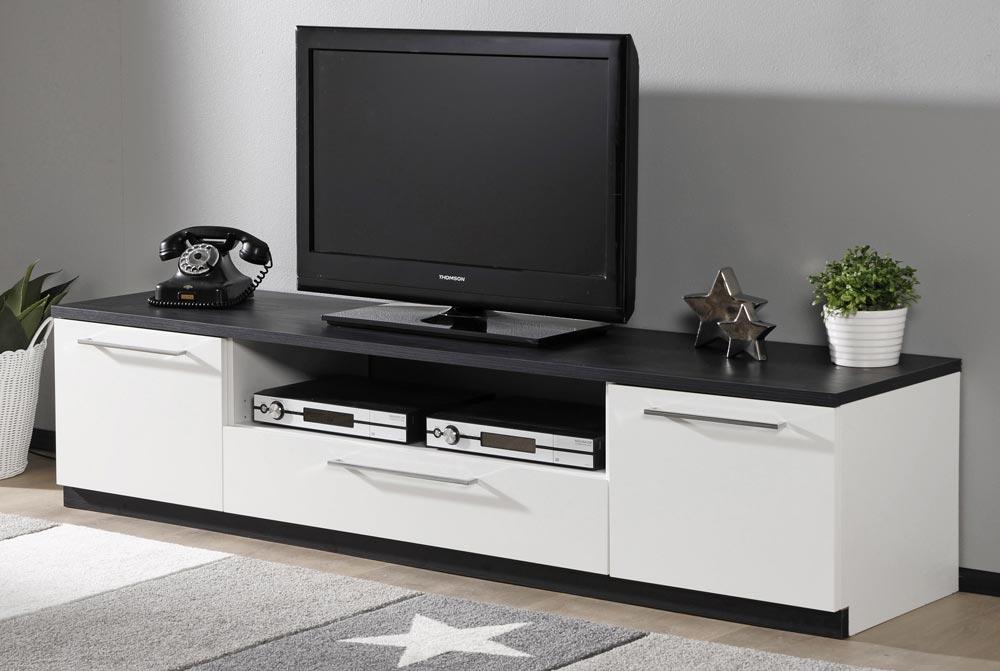 MONACO tv taso (valkoinen musta)  TV tasot ja mediatasot